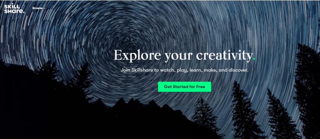 Decorative text :Explore your creativity