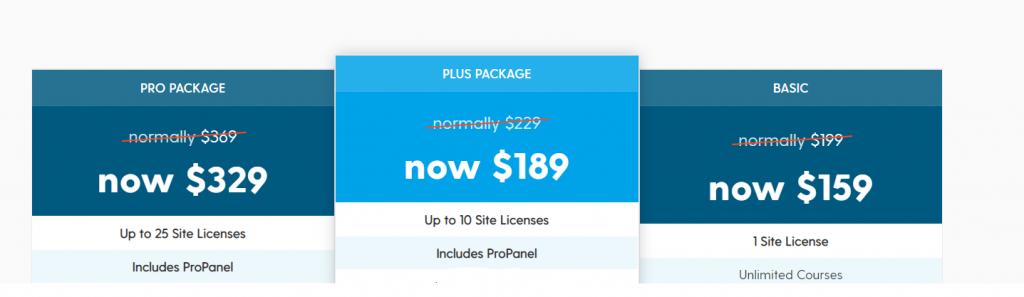 Learn Dash course platform price plans table