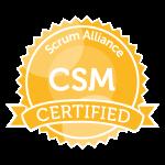 Scrum Master Certification Badge